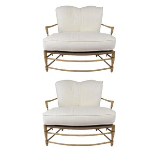 French Provincial Polychrome Settees - A Pair