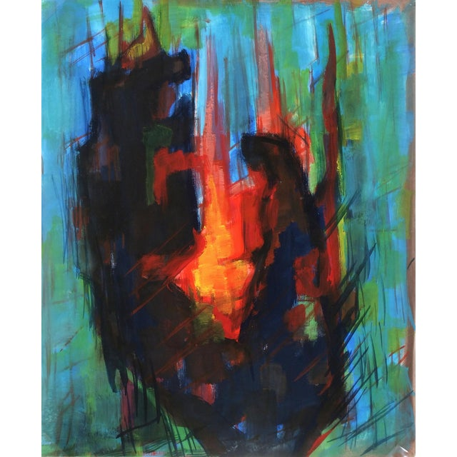 Original French Abstract Modern Art Painting - Image 1 of 3