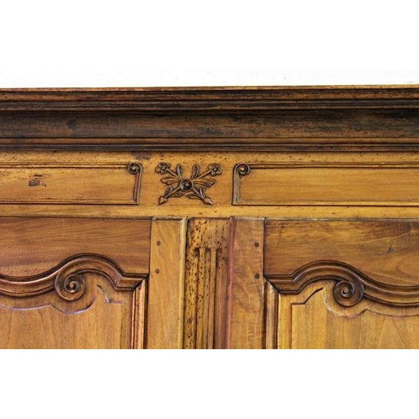 18thC Large French Country Wooden Armoire - Image 6 of 10