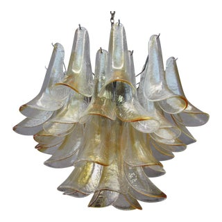 1970s Mazzega Glass Italian Chandelier