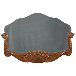 French Slip in Mirror With Carved Wood Frame