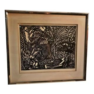 """La Pêche"" Original Print by Raoul Dufy"