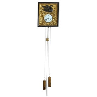 Wall Clock with Bird and Floral Decoration