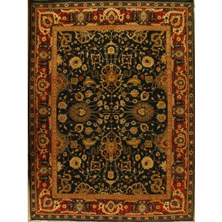 Hand-Knotted Indian Agra Rug - 9′2″ × 12′8″