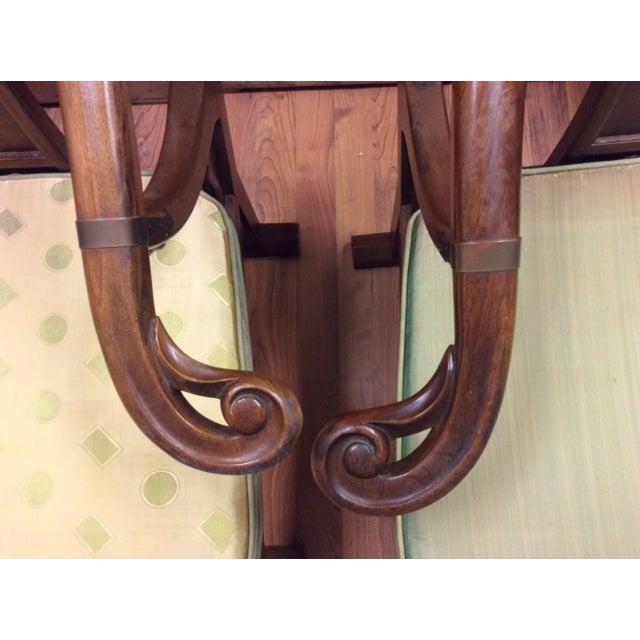 Hardwood Chinese Chairs - Pair - Image 5 of 7