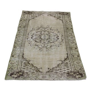Vintage Oriental Turkish Rug- 4′6″ × 7′5″