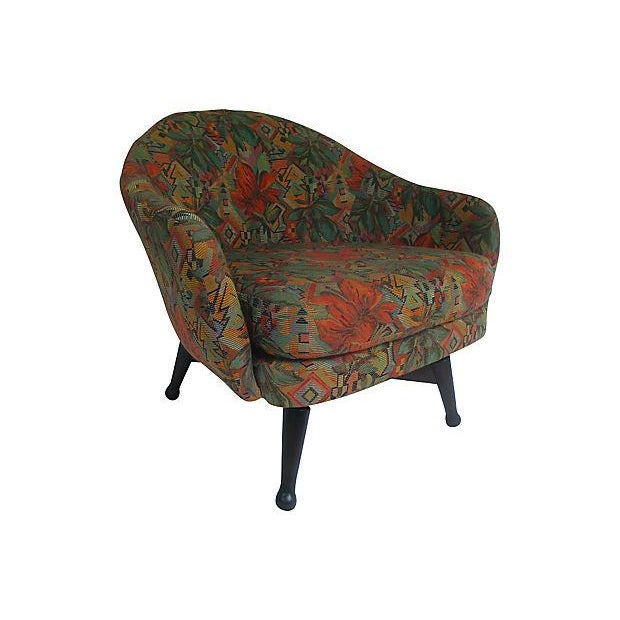 Mid Century Modern Swivel Barrel Chair Chairish
