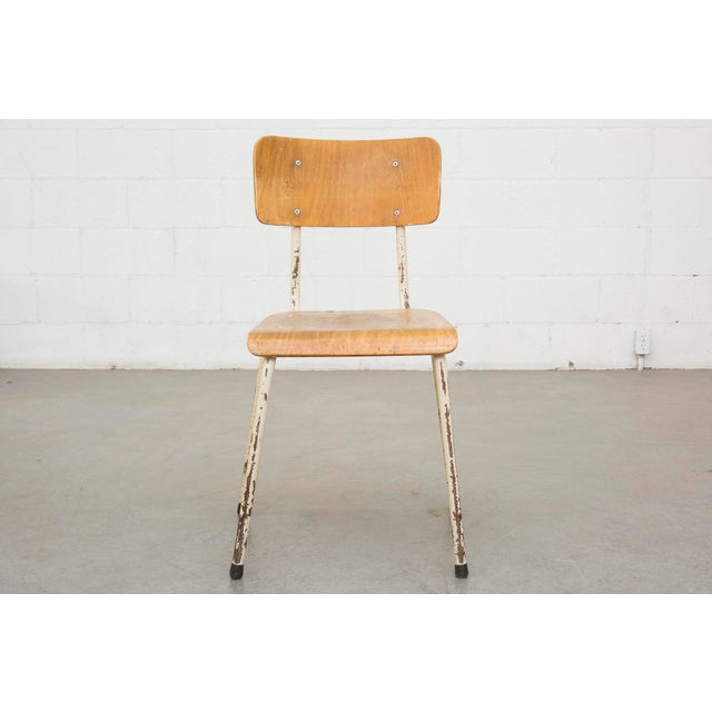 Industrial Plywood Stacking School Chairs - Image 4 of 11