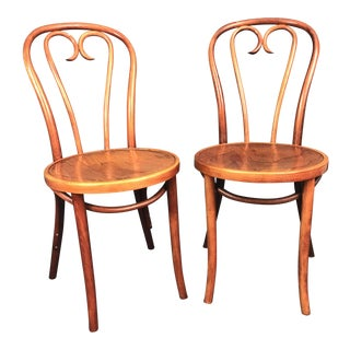 Thonet Style A16 Bentwood Heart Cafe Chair - A Pair