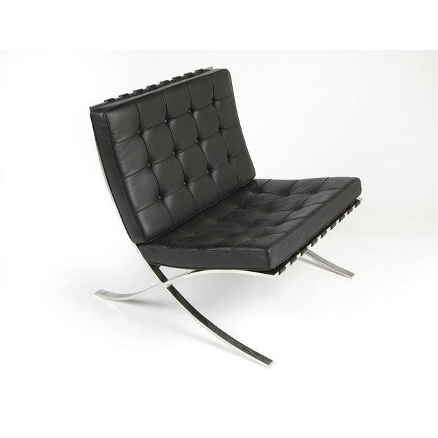 knoll barcelona chair by ludwig mies van der rohe chairish. Black Bedroom Furniture Sets. Home Design Ideas