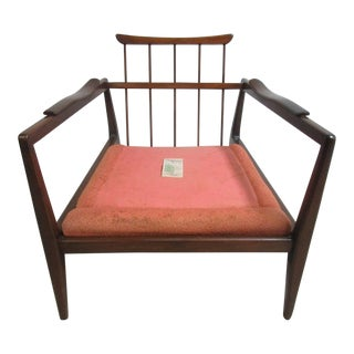 Danish Modern Walnut Lounge Chair