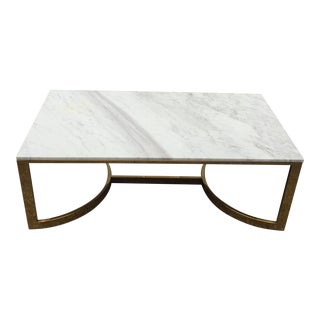 Bernhardt Marble & Brass Large Coffee Table