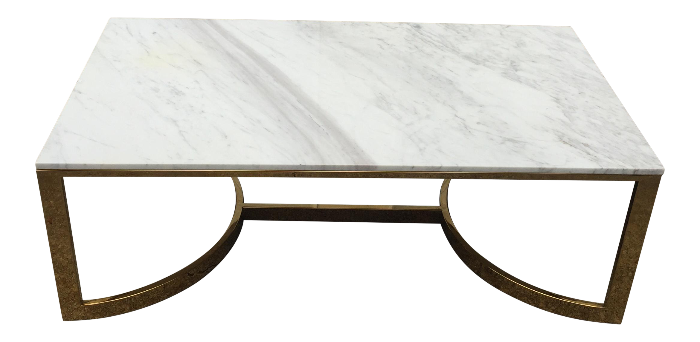 Bernhardt Marble U0026 Brass Large Coffee Table