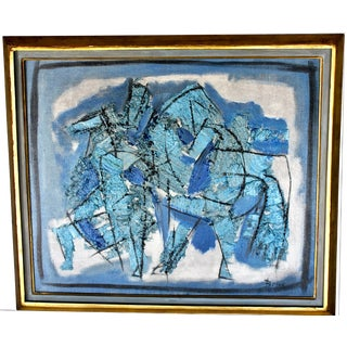 """Horses"" Impressionist Abstract Painting"
