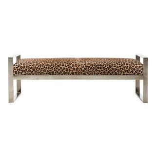 Milo Baughman Leopard Bench