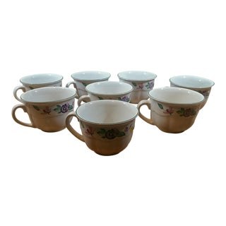Century Stoneware Coffee Mugs - Set of 8