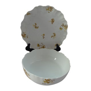 French Serving Bowl & Platter - Set of 2