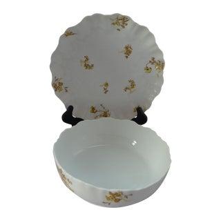 French Serving Bowl & Platter - Set of 2