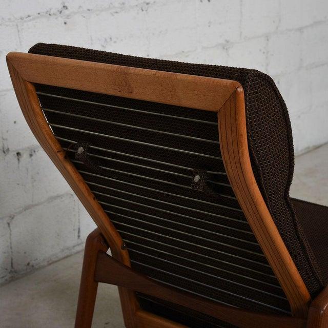 Kofod Larsen Danish Modern Teak Adjustable Lounge Chair with Ottoman - Image 6 of 10