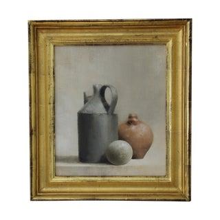 Oil On Canvas Still Life - Stoneware