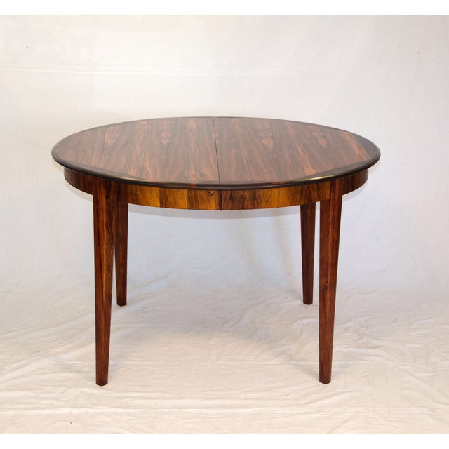 Danish Round Rosewood Dining Table by Moller - Image 2 of 7