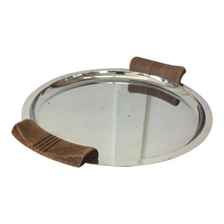 Mid-Century Stainless Steel Hors d'Oeuvre Tray