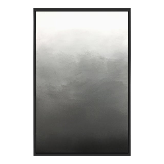 """Abstract Gray Ombré"" Framed Giclée Print - Image 1 of 3"