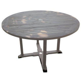 Outdoor Round Teak Table