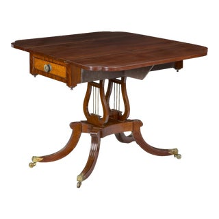 Federal Mahogany & Bird's Eye Maple Drop Leaf Table