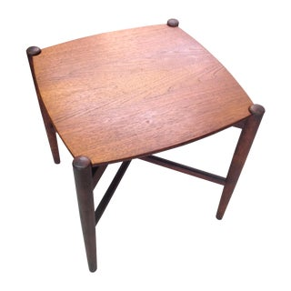 Mid-Century Teak Occasional Fold-Up Table