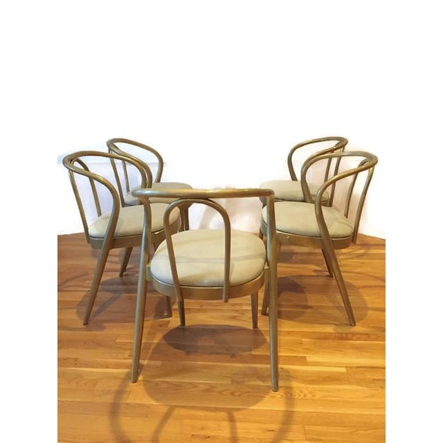 Vintage Modern Bentwood Dining Chairs - Set of 5 - Image 3 of 11