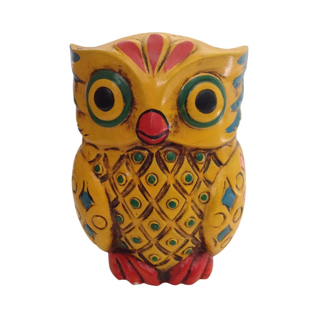 Image of 1960s Folk-Style Owl Bank