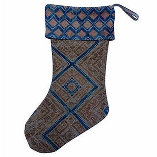 Antique Dowry Quilt Christmas Stocking