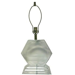 Van Teal Hexagonal Lucite Lamp