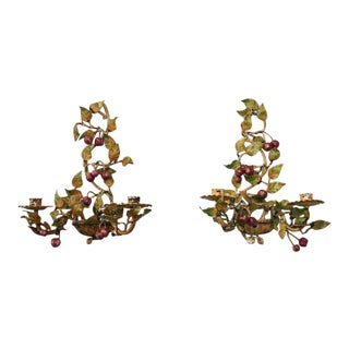Italian Tole Sconces - A Pair