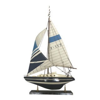 Wooden American Model Sailing Yacht