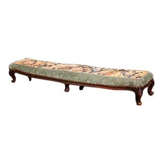 19th Century Louis XV French Walnut Six-Legged Prayer Bench
