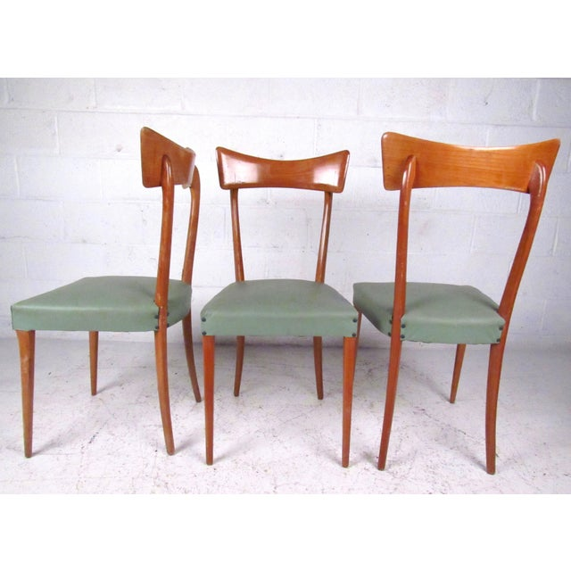 Italian Modern Ico Parisi Style Dining Chairs - Set of 6 - Image 4 of 11