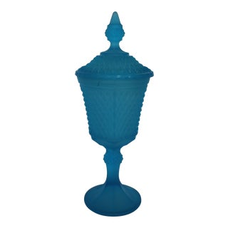 Mid-Century Turquoise Apothecary Jar