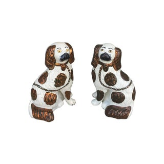 Staffordshire Pottery Dogs - Pair