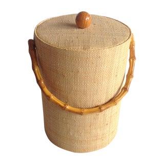 Hollywood Regency Bamboo Ice Bucket