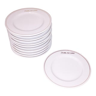 Gold Rim Delta Air Lines Plates - Set of 12
