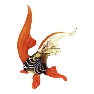 Murano Style Hand Blown Glass Sunfish Figurine