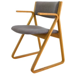 Stow Davis Mid-Century Upholstered Triangle Chair