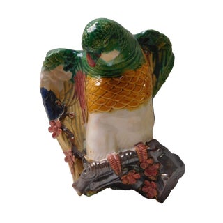 Colorful Parrot Wall Hanging Vase