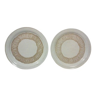 Martz Ceramic Dinner Plates - A Pair