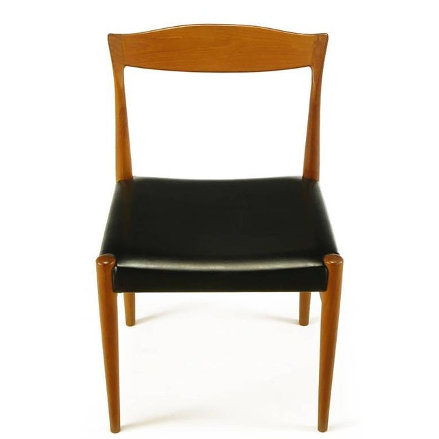 Six Teak Sculptural Back Dining Chairs, circa 1960s - Image 2 of 9