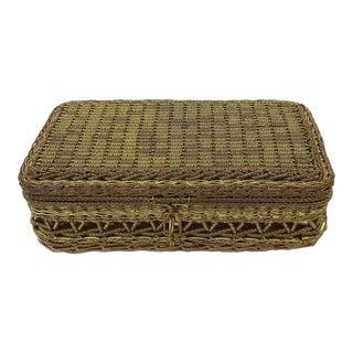 Vintage Brass & Copper Threaded Box