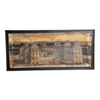 "French ""Boisserie"" Painting on Hand-Scraped Walnut Wood"