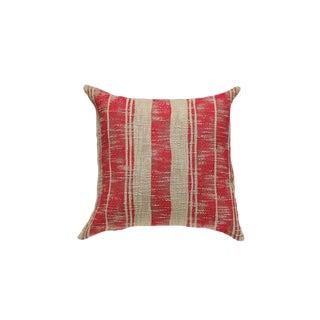Red & Tan Striped Pillow